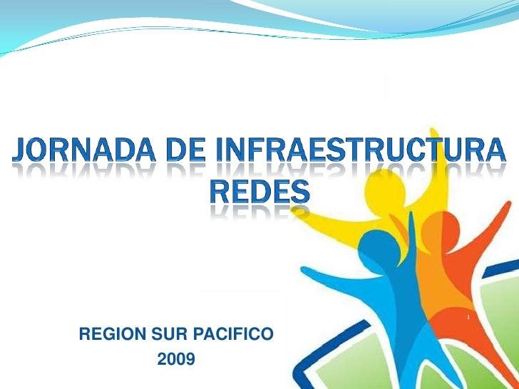 JORNADA DE INFRAESTRUCTURA REDES<br />1<br />REGION SUR PACIFICO<br />2009<br />