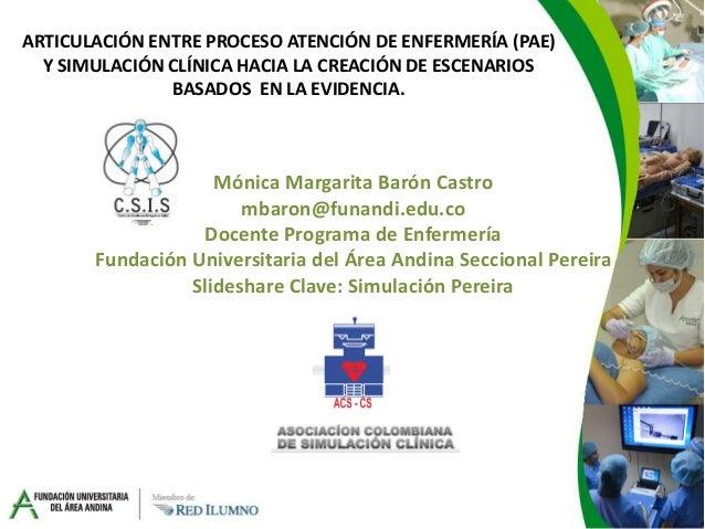 ARTICULACIÓN ENTRE PROCESO ATENCIÓN DE ENFERMERÍA (PAE) Y SIMULACIÓN CLÍNICA HACIA LA CREACIÓN DE ESCENARIOS BASADOS EN LA...