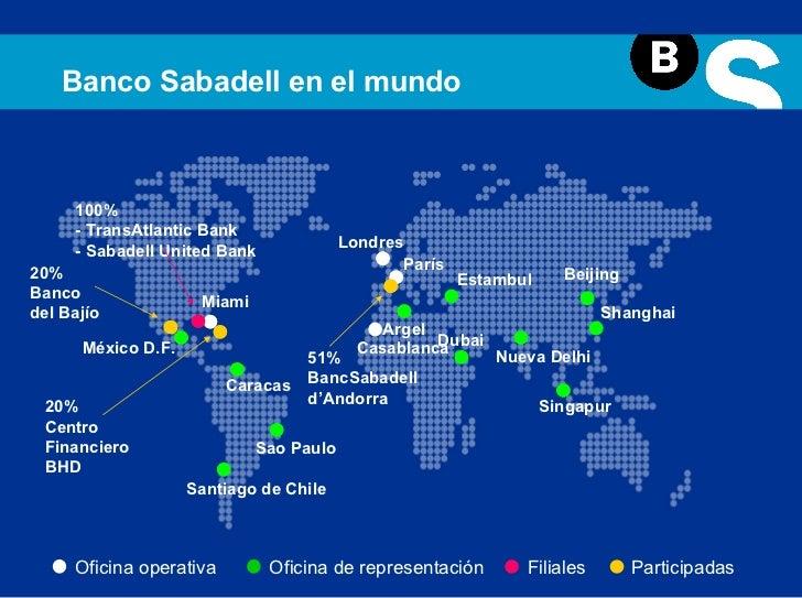 Presentaci n institucional banco sabadell for Oficina 5515 banco sabadell