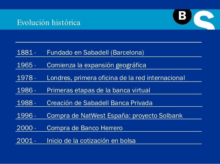 Presentaci n institucional banco sabadell for Oficina 5077 banco sabadell