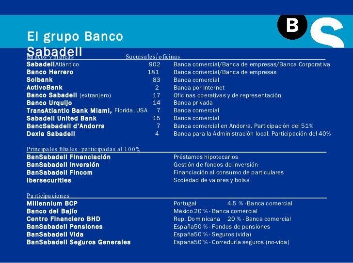 Presentaci n institucional banco sabadell for Sabadellatlantico oficinas