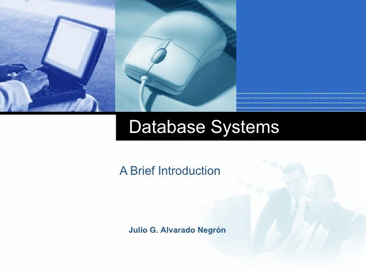Database Systems A Brief Introduction