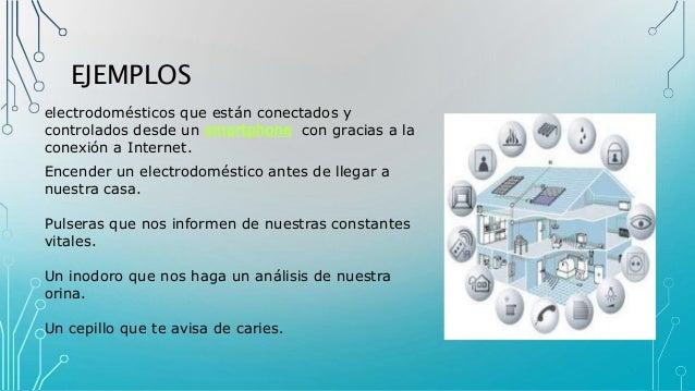 EJEMPLOS electrodomésticos que están conectados y controlados desde un smartphone con gracias a la conexión a Internet. En...