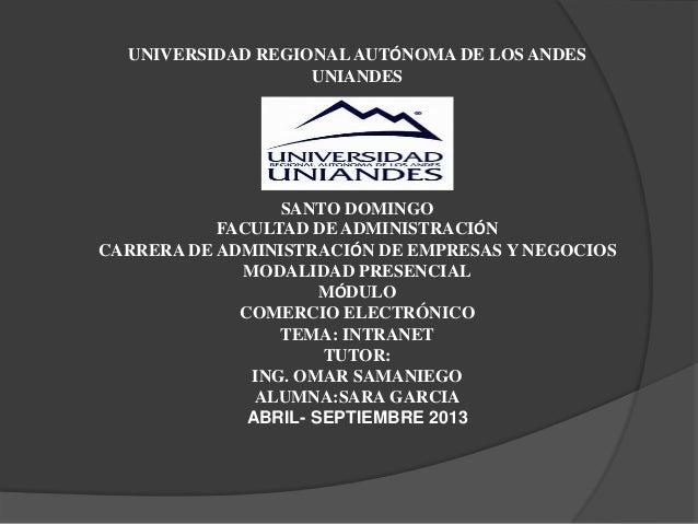 UNIVERSIDAD REGIONALAUTÓNOMA DE LOS ANDESUNIANDESSANTO DOMINGOFACULTAD DE ADMINISTRACIÓNCARRERA DE ADMINISTRACIÓN DE EMPRE...