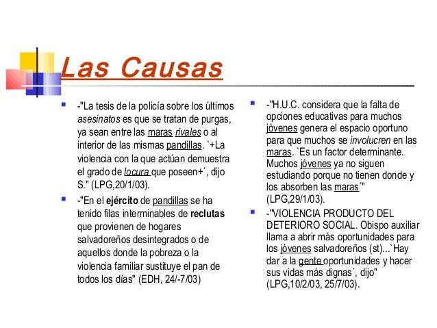 """Las Causas   -""""La tesis de la policía sobre los últimos      -""""H.U.C. considera que la falta de    asesinatos es que se ..."""