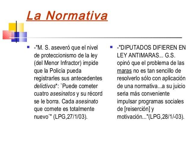 """La Normativa   -""""M. S. aseveró que el nivel       -""""DIPUTADOS DIFIEREN EN    de proteccionismo de la ley         LEY ANT..."""