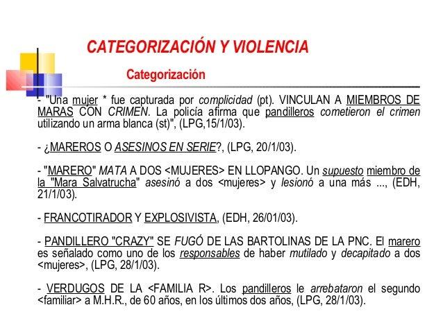 """CATEGORIZACIÓN Y VIOLENCIA                 Categorización- """"Una mujer * fue capturada por complicidad (pt). VINCULAN A MIE..."""