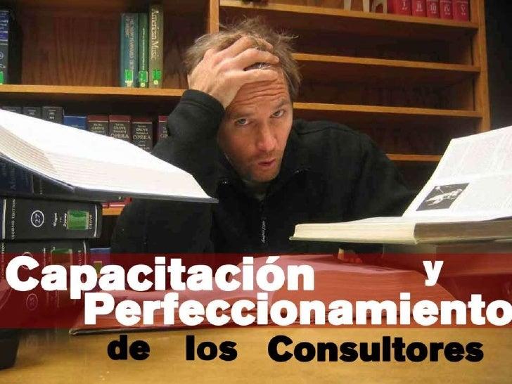 Capacitación y perfeccionamiento de los consultores<br />