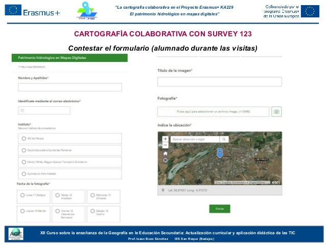 """""""La cartografía colaborativa en el Proyecto Erasmus+ KA229 El patrimonio hidrológico en mapas digitales"""" XII Curso sobre l..."""