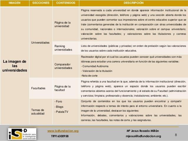 8 www.isdfundacion.org Mª Jesus Rosado Millán Tlf916300958 mjesus@isdfundacion.org Análisis estructural IMAGEN SECCIONES C...