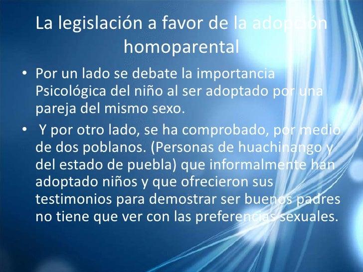 Argumentos sobre la adopcion homosexual a favor