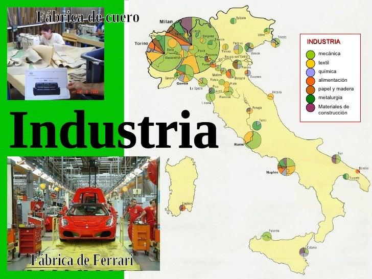 Geografia de italia for Industria italiana arredi