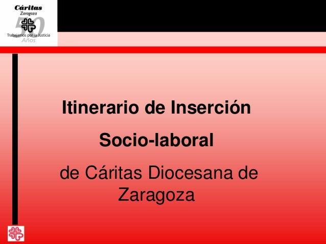 Itinerario de Inserción Socio-laboral de Cáritas Diocesana de Zaragoza