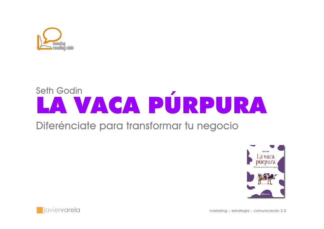 Seth Godin  LA VACA PÚRPURA Diferénciate para transformar tu negocio                                       marketing :: es...