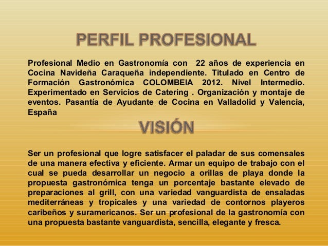 Presentacion jegbg jefe de cocina junio 15 ppt - Trabajo de jefe de cocina ...