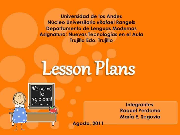 Universidad de los Andes Núcleo Universitario «Rafael Rangel» Departamento de Lenguas Modernas Asignatura: Nuevas Tecnolog...