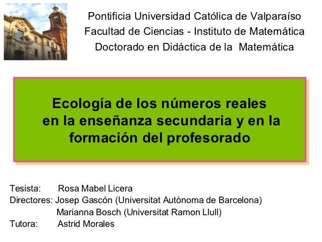 Pontificia Universidad Católica de Valparaíso                 Facultad de Ciencias - Instituto de Matemática              ...