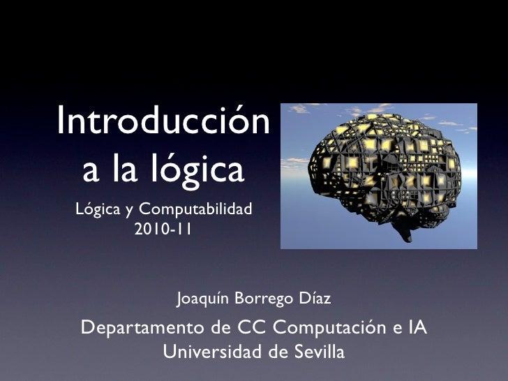 Presentacion lógica para la asignatura Lógica y Computabilidad