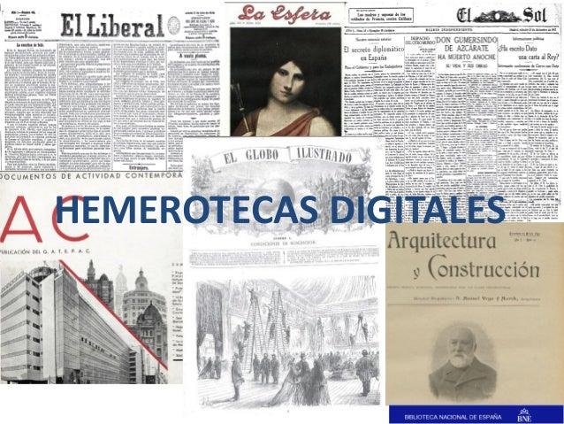 HEMEROTECAS DIGITALES