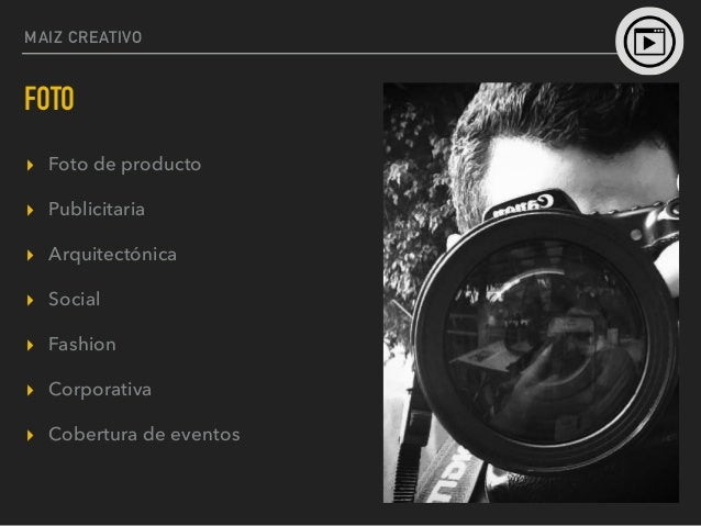 MAIZ CREATIVO VIDEO ▸ Videoclips ▸ Logotipos en 3D ▸ Cobertura de eventos ▸ Spot de video ▸ Motion Graphics ▸ Animación ▸ ...