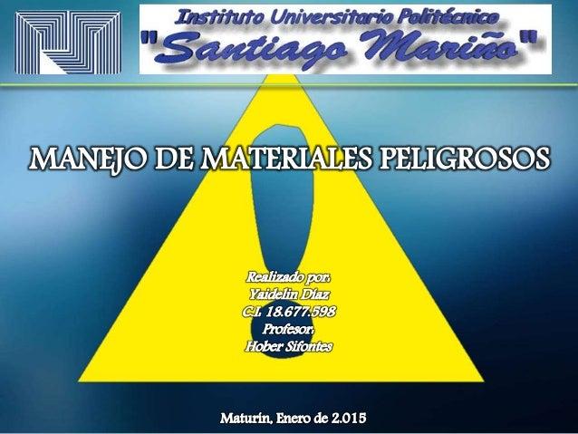 1.1 Materiales y artículos que presentan riesgo de explosión de toda la masa (como la nitroglicerina y la dinamita). 1.2 M...