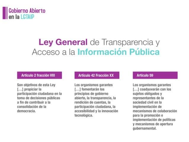 Marco Normativo del Gobierno Abierto en México Slide 3
