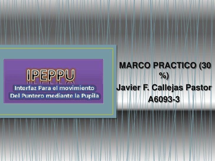 MARCO PRACTICO (30            %) Javier F. Callejas Pastor         A6093-3