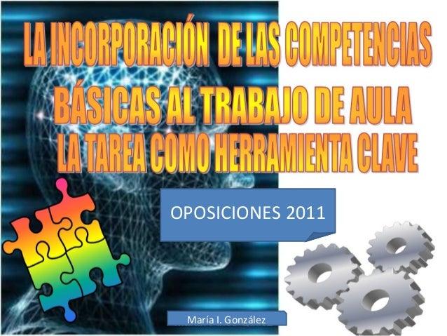 OPOSICIONES 2011 María I. González