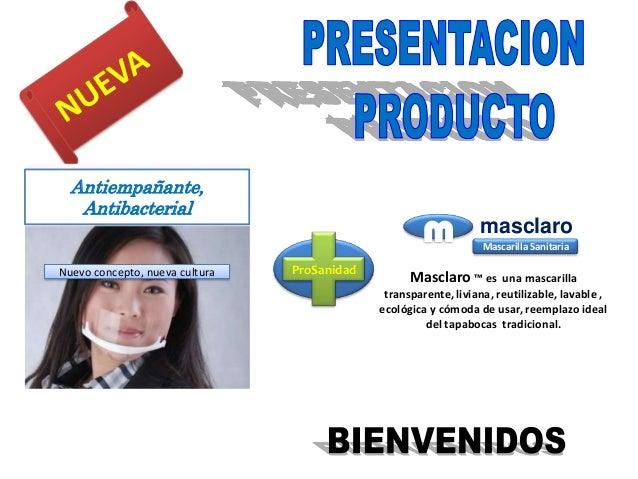 m masclaroMasclaro ™ es una mascarillatransparente, liviana, reutilizable, lavable ,ecológica y cómoda de usar, reemplazo ...