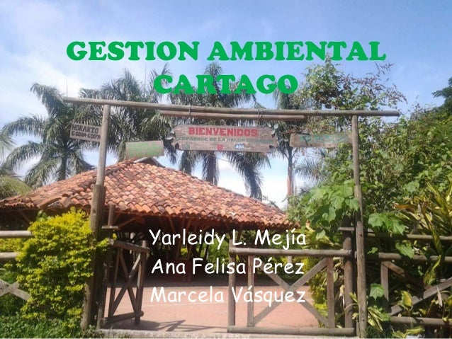 GESTION AMBIENTAL     CARTAGO    Yarleidy L. Mejía    Ana Felisa Pérez    Marcela Vásquez