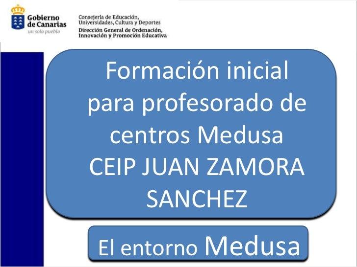 Formación inicialpara profesorado de  centros MedusaCEIP JUAN ZAMORA     SANCHEZEl entorno Medusa