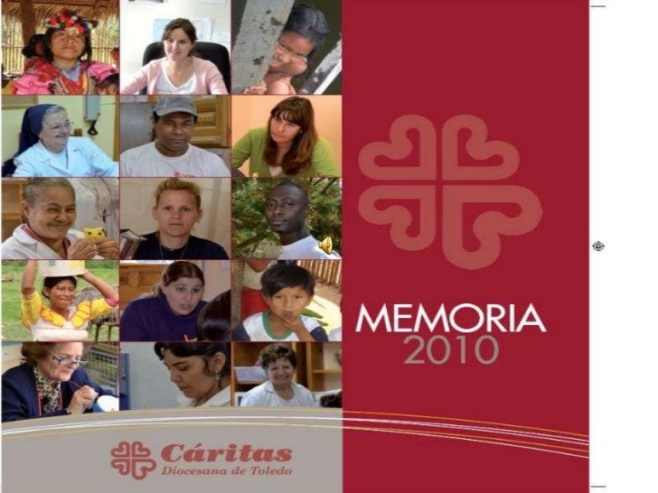 Memoria Cáritas Toledo 2010