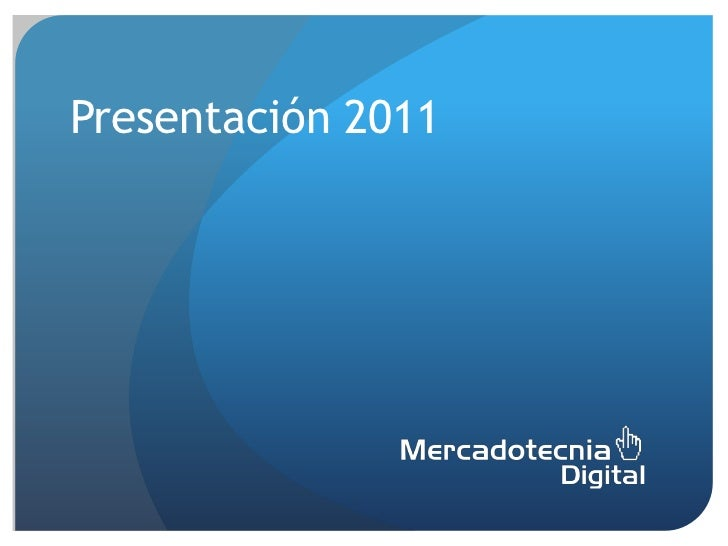 Presentación 2011