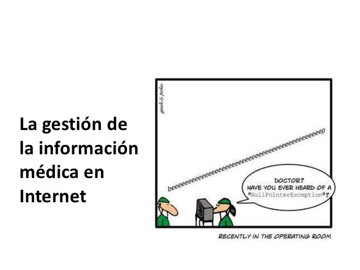La gestión dela informaciónmédica enInternet