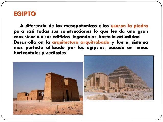 EGIPTO A diferencia de los mesopotámicos ellos usaron la piedra para casi todas sus construcciones lo que les da una gran ...