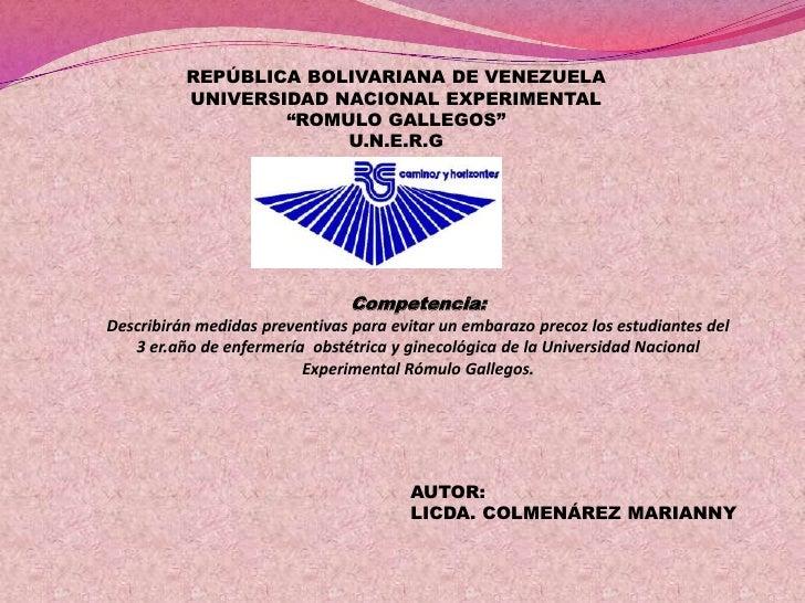 """REPÚBLICA BOLIVARIANA DE VENEZUELA          UNIVERSIDAD NACIONAL EXPERIMENTAL                  """"ROMULO GALLEGOS""""          ..."""