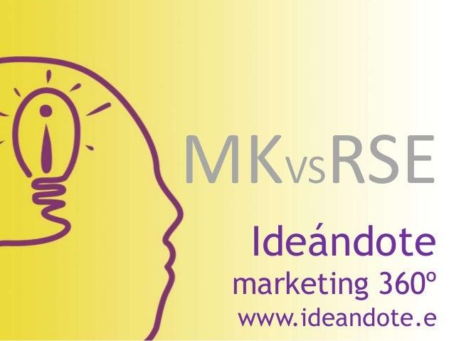 Ideándote marketing 360º www.ideandote.e MKVSRSE
