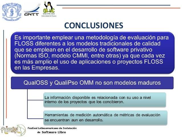 análisis de modelos de evaluación de calidad de software libre