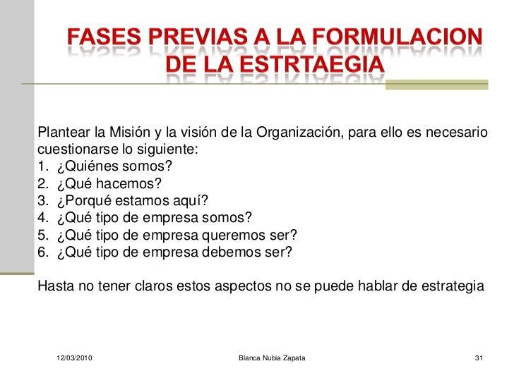 Plantear la Misión y la visión de la Organización, para ello es necesario cuestionarse lo siguiente: 1. ¿Quiénes somos? 2....