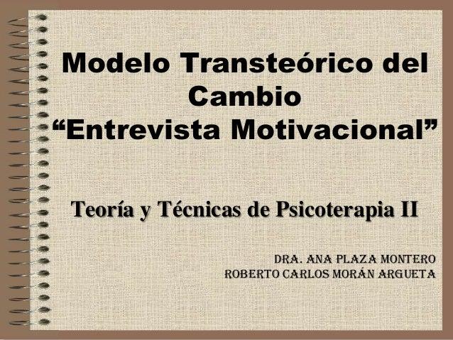 Presentacion Modelo Transteórico Del Cambio