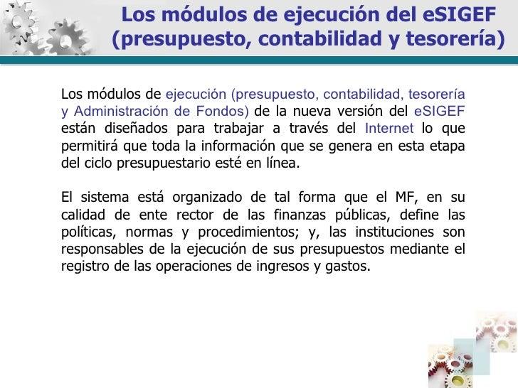 Presentacion Modulos De Ejecucion E Sigef 2010