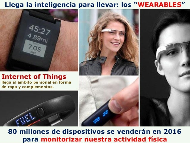 """Llega la inteligencia para llevar: los """"WEARABLES"""" Internet of Things llega al ámbito personal en forma de ropa y compleme..."""