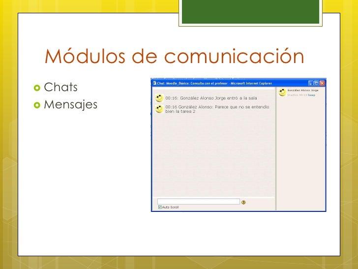 Módulos de comunicación Chats Mensajes