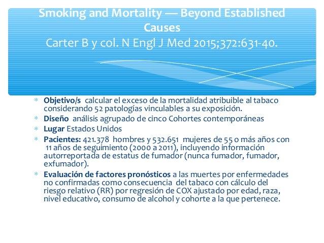 Estimación del daño en fumadores de pocos cigarrillos: enfermedad cardiovascular Enfermedad cardiovascular Tabaquismo Ries...