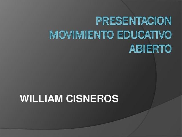 WILLIAM CISNEROS
