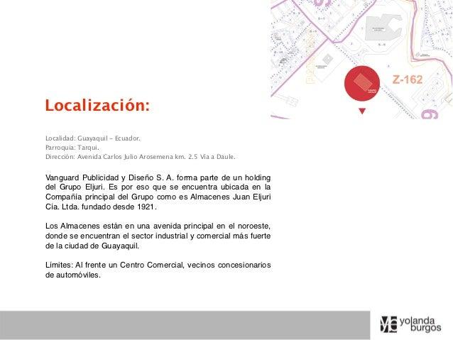 Localización:Localidad: Guayaquil - Ecuador.Parroquia: Tarqui.Dirección: Avenida Carlos Julio Arosemena km. 2.5 Vía a Daul...