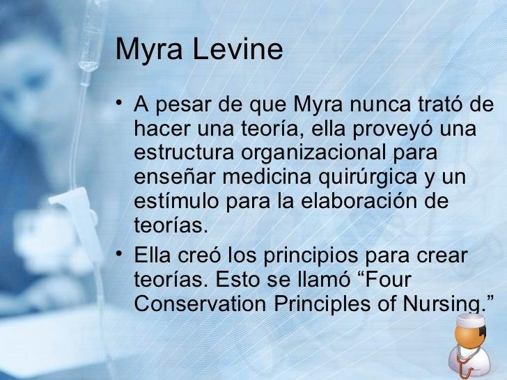 Myra Levine <ul><li>A pesar de que Myra nunca trató de hacer una teoría, ella proveyó una estructura organizacional para e...