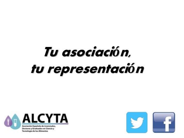 Tu asociación, tu representación