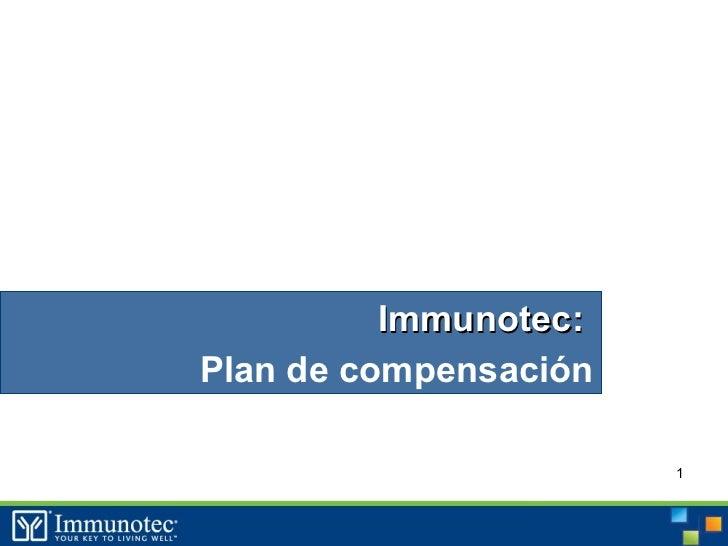 Immunotec:Plan de compensación                       1