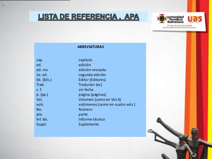 [1]                   ABREVIATURAS      cap.         capítulo      ed.          edición      ed. rev.     edición revisada...